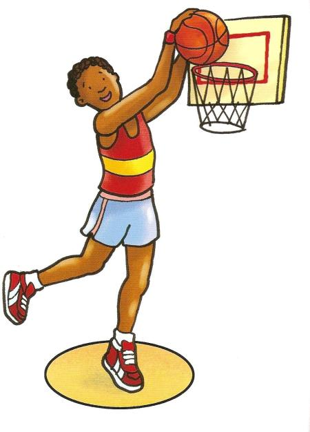 playing basketball
